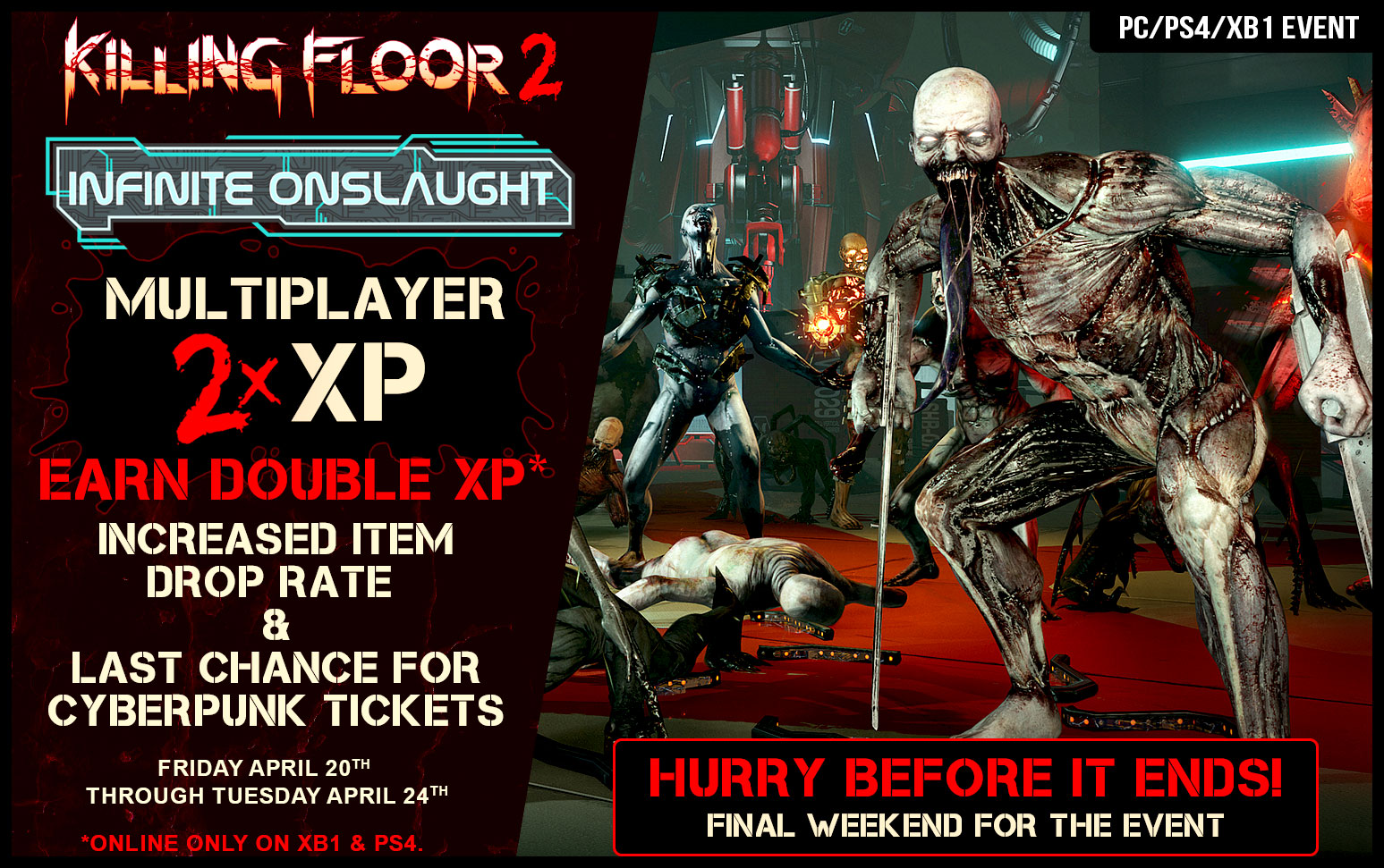 Double Xp Final Weekend Of The Infinite Onslaught